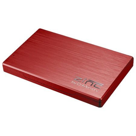 CnMemory Zinc externe Festplatte 1TB (6,4 cm (2,5 Zoll), USB 3.0) rot