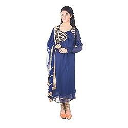 Darbari Women's Cotton Silk Kameez (OL-519_Multi Colour_Xl)