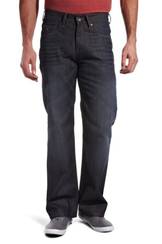 Tommy Hilfiger Straight Leg Jeans Manhattan Glazed Worn In 40W 34L