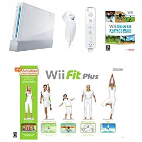Nintendo wii System with Wii Fit Plus Bundle