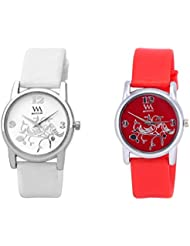 Watch Me MULTI Combo Set Of 2 Analogue Watches Gift For WOMEN WMAL-103W-103R