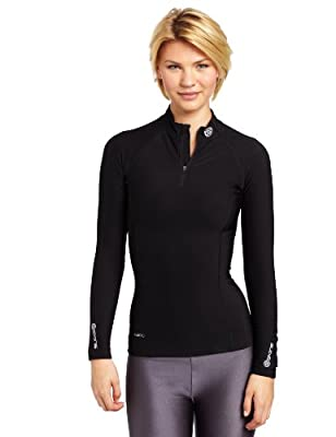 Skins A200 Thermal Long Sleeve MckNeck w zip Women's Compression Top from Skins