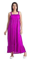 TeeMoods Womens Long Dress(TM-1478_Purple_Small)
