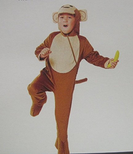 [MONKEY WITH BANANA ~ Toddler Costume 3T / 4T] (Jungle Monkey Costumes)