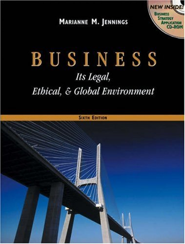 Business: Its Legal, Ethical, and Global Environment with InfoTrac College Edition