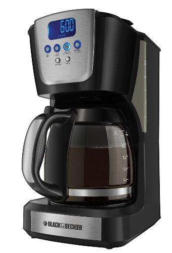 Black And Decker Coffee Maker Temperature : Black & Decker CM5050 12-Cup Programmable Coffeemaker Black Coffee Maker