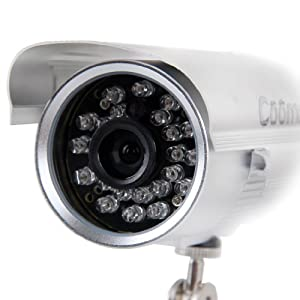Coomatec DVR Waterproof Outdoor CCTV Security Camera Micro SD/TF Card Night Vision Recorder, widely used in convenience store, Shop, home and office