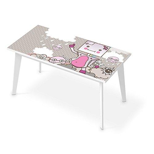 schreibtisch dekorationsaufkleber f r tisch 150x75 cm bedruckte klebe folie tischfolie. Black Bedroom Furniture Sets. Home Design Ideas