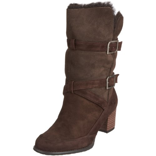 Rockport Gw Bootie Buckle Women's Knee High Boots Rport D. Brown K53777 4 UK
