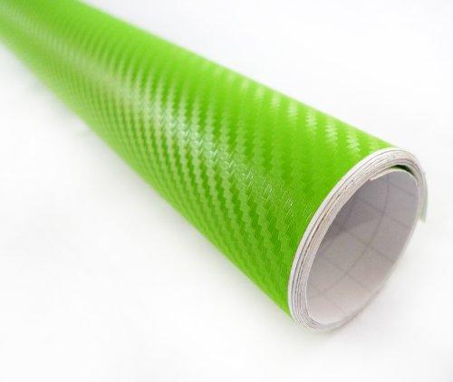 3D Green Carbon Fiber Texture Vinyl Wrap Sticker Decal Film Sheet - 12