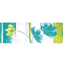 Yosemite Home Decor YA100180B Blues and Greens II Hand Painted Abstract Wall Art