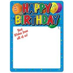 Happy Birthday Partygraph Party Accessory (1 count)