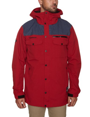 O'Neill Freedom Button Up Men's Jacket Rio Red Large