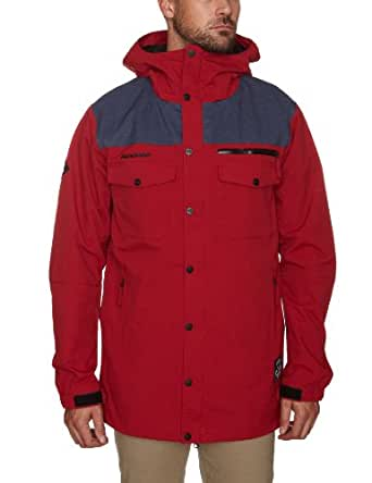 O'Neill Freedom Button Up Men's Jacket Rio Red X Large