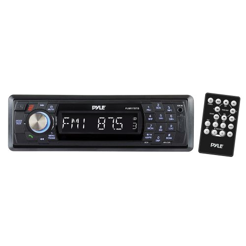 Pyle PLMR17BTB AM/FM-MPX In-Dash Marine Detachable Face Radio with SD/MMC/USB Player and Bluetooth Wireless Technology