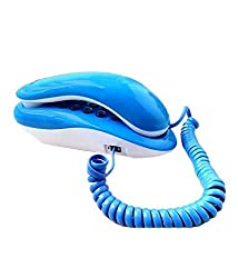 Landline Telephone Corded Phone Orientel KX-T333 For Office and Home Purpose(SkyBlue)