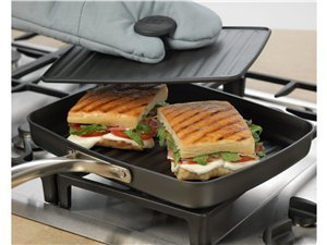 Calphalon Unison 1818662 Grill Pan and Cast Iron Press with Sear Nonstick by Calphalon