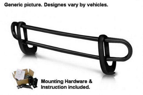 Custom Fit 08 13 Highlander Black Rear Bumper Guard Nerf Push Bar