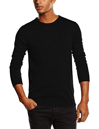 SELECTED HOMME Shdtower Merino Crew Neck Noos, Felpa Uomo, Nero (Black), Medium
