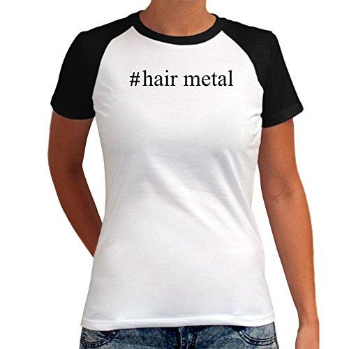 Maglietta Raglan da Donna #Hair Metal Hashtag
