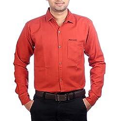 Aaduki Men's Casual Red Shirt-38