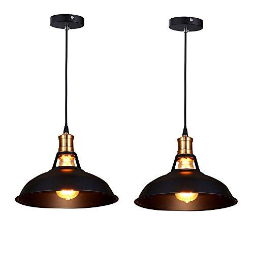 fuloon-set-of-2-vintage-industrial-e27-ceiling-light-metal-shade-loft-coffee-bar-kitchen-hanging-pen