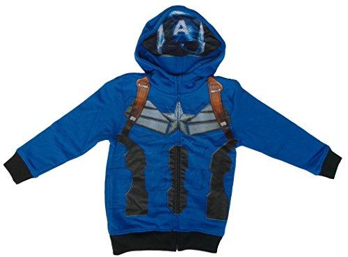 Marvel Universe Captain America Mask Little Boys Costume Hoodie