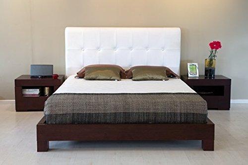 Forzza Fiji Queen Size Bed (Matt Finish, White)