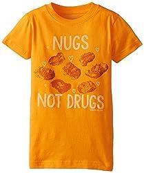 David & Goliath Big Girls' Nugs Tee Shirt, Mandarin, Large