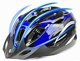 JapaNice 自転車 ヘルメット 超軽量 サイクリング ロード クロス バイスクル スポーツ マウンテンバイク 頭 守る ハーフグローブ(手袋指出し)セット ブルー(青)