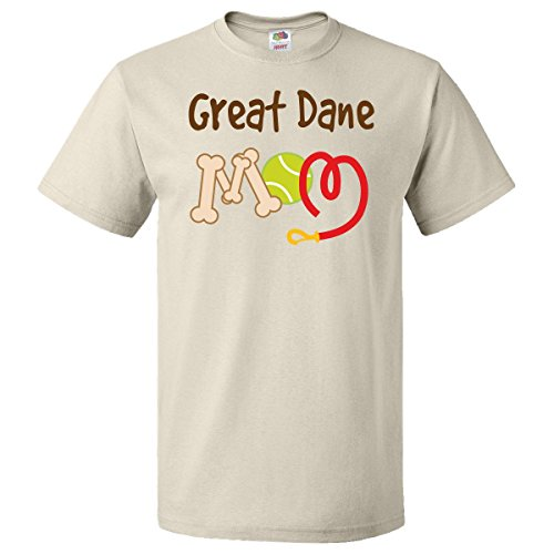 Inktastic Great Dane Dog Mom T-Shirt Medium Natural