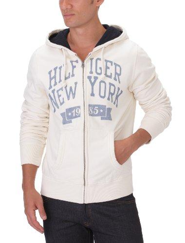 Hilfiger Denim Men's Otter Hd Zipthru L/S / 1957818853 Sweatshirt White (002 Egret) 48