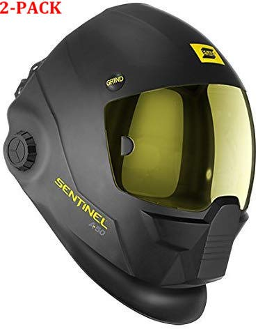 Esab SENTINEL A50 Auto Darkening Welding Helmet (3.93 x 2.36 in. (100 x 60 mm) viewing area, 2-Pack) (Tamaño: 3.93 x 2.36 in. (100 x 60 mm) viewing area, 2-Pack)