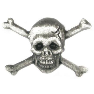 Skull and Cross Bones 3D Lapel Pin