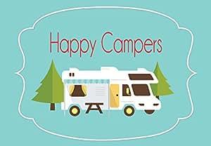 Amazon Com Quot Happy Campers Quot Rv Camper Welcome Door Mat 18