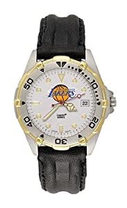 Los Angeles Lakers Mens NBA All-Star Watch (Leather Band) by Logo Art