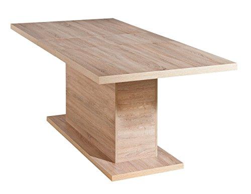 Links-19500460-Esstisch-Sulentisch-Kchentisch-Esszimmer-Tisch-Sonoma-Eiche-160-200-x-90-cm
