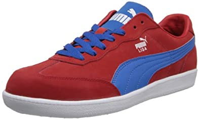 PUMA Men's Liga Nubuck Fashion Sneaker,High Risk Red/French Blue,7 M US