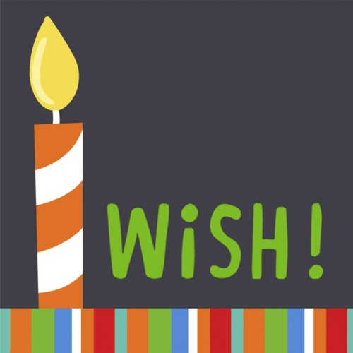 Candles and Wishes Lunch Napkins-16 count