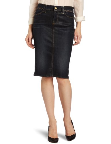 7 For All Mankind Women's Denim Coated Pencil Skirt