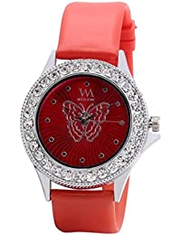 Watch Me Red Rubber Analogue Watch For Women WMAL-094-R