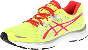 ASICS Women's GEL-Blur33 2.0 Running Shoe,Flash Yellow/Hot Punch/Silver,9.5 M US