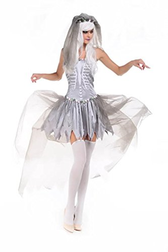 Lover-baby® Ghastly in This Three-piece Full Layered Tulle Bride of Doom Costume