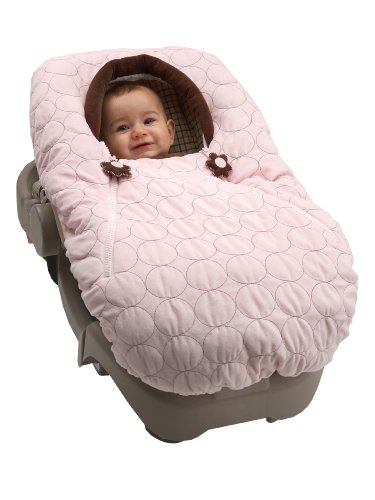 NoJo Double Zipper Baby Cover-Up - Pink Velboa with Flower Pull (Discontinued by Manufacturer) - 1
