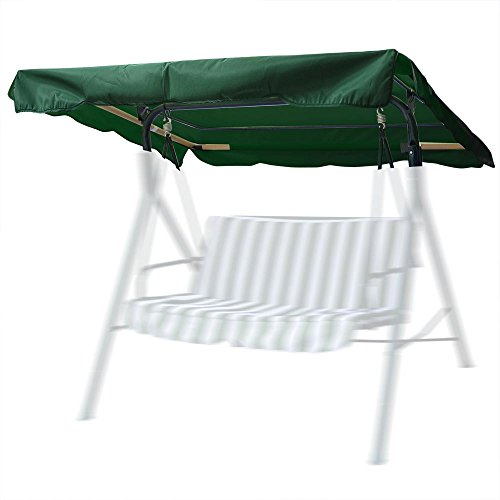 """75""""x52"""" Outdoor Swing Canopy Replacement Porch Top Cover Park Seat Furniture Patio"""