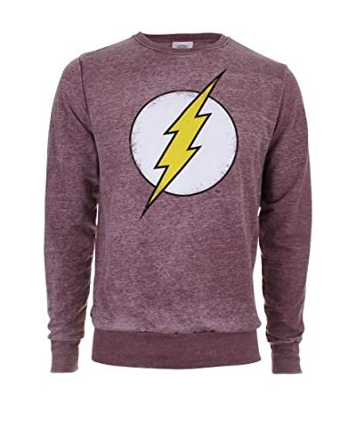 DC COMICS Sudadera Flash Distress Logo Vino
