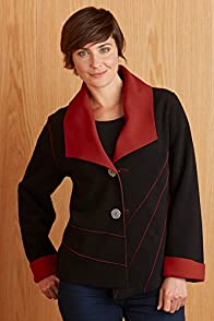 Janska USA-made Eliza Reversible Fleece Jacket