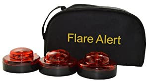 3 FlareAlert 9.1.1 LED Emergency Beacon Flares with Storage Bag