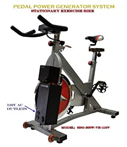 Pedal Power Exercise Bike Generator AC DC - Emergency Power 12vdc and 110v ac power by MNS Power