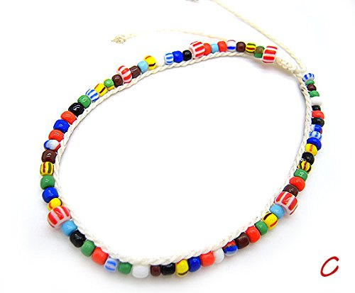 Anklet ankle accessories colorful mix beads handmade hand made size anklet 3-5738